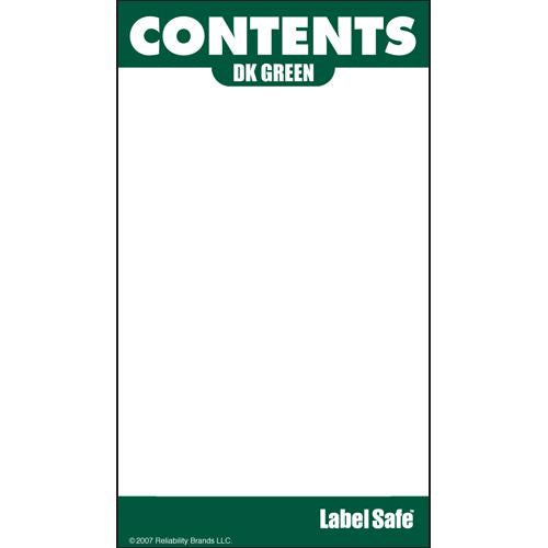 "OilSafe Dark Green ID Label, Outdoor Paper, 2"" x 3.5"" - 280003 - RelaWorks"