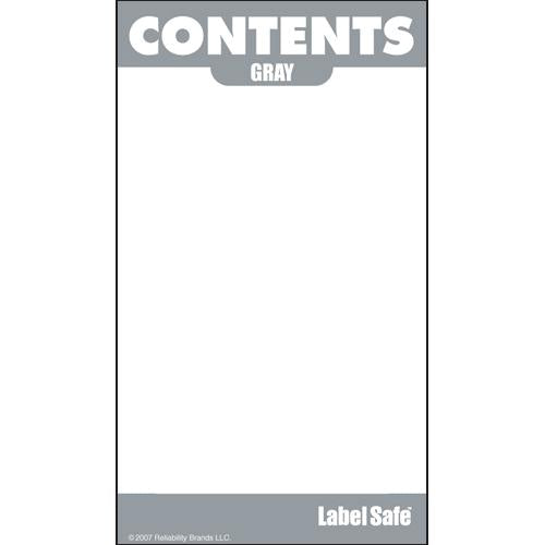 "OilSafe Gray ID Label, Outdoor Paper, 2"" x 3.5"" - 280004 - RelaWorks"