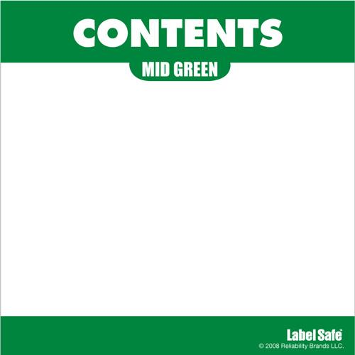 "OilSafe Mid Green ID Label, Outdoor Paper, 3.25"" x 3.25"" -280305 - RelaWorks"