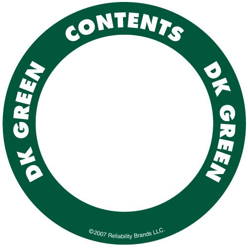 "OilSafe Dark Green ID Label, Outdoor Paper, 2"" Circle - 280503 - RelaWorks"