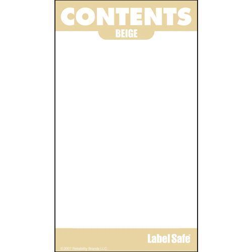 "OilSafe Beige ID Label, Outdoor Paper, 2"" x 3.5"" - 280000 - RelaWorks"