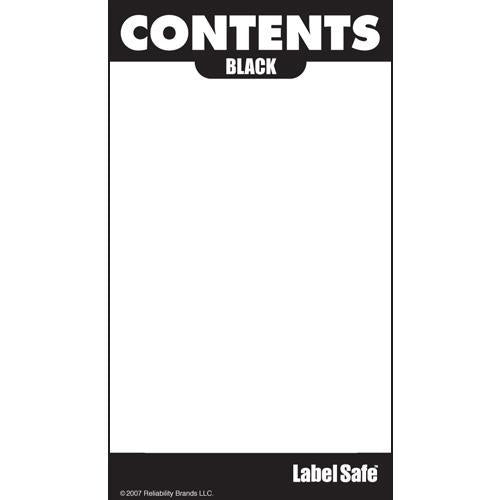 "OilSafe Black ID Label, Adhesive Paper, 2"" x 3.5"" - 282101 - RelaWorks"