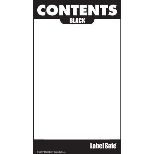 "OilSafe Black ID Label, Outdoor Paper, 2"" x 3.5"" - 280001 - RelaWorks"