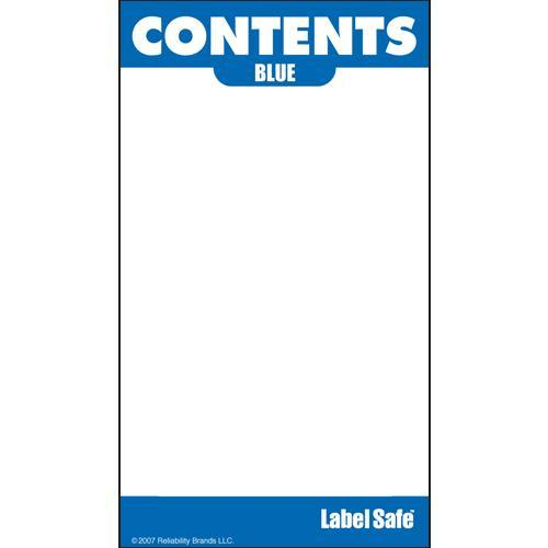 "OilSafe Blue ID Label, Adhesive Paper, 2"" x 3.5"" - 282102 - RelaWorks"