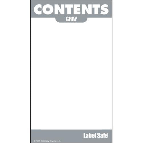 "OilSafe Gray ID Label, Adhesive Paper, 2"" x 3.5"" - 282104 - RelaWorks"