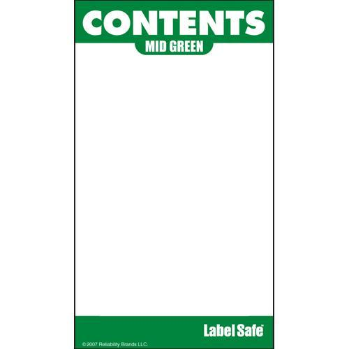 "OilSafe Mid Green ID Label, Adhesive Paper, 2"" x 3.5"" - 282105 - RelaWorks"
