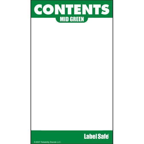 "OilSafe Mid Green ID Label, Outdoor Paper, 2"" x 3.5"" - 280005 - RelaWorks"
