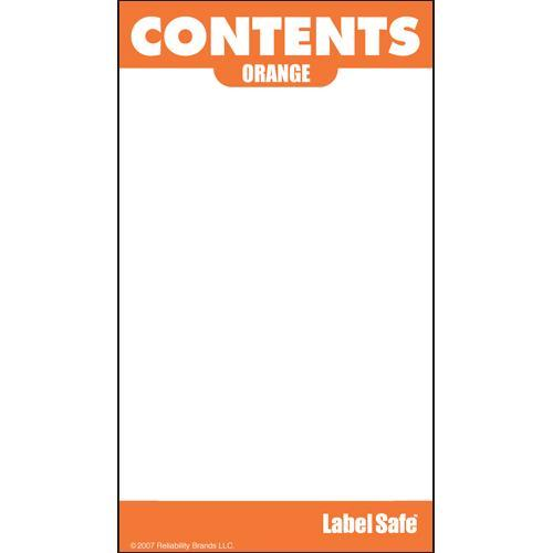 "OilSafe Orange ID Label, Adhesive Paper, 2"" x 3.5"" - 282106 - RelaWorks"