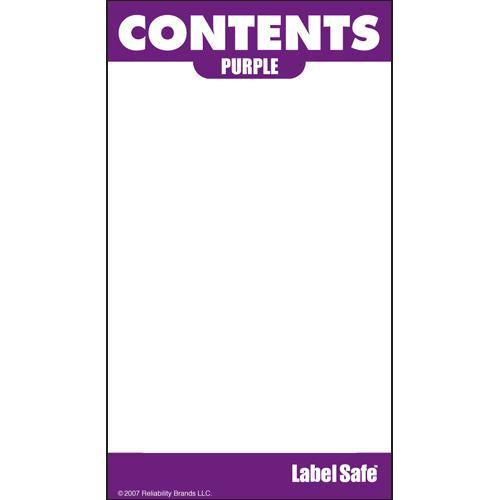 "OilSafe Purple ID Label, Adhesive Paper, 2"" x 3.5"" - 282107"