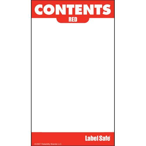 "OilSafe Red ID Label, Adhesive Paper, 2"" x 3.5"" - 282108 - RelaWorks"