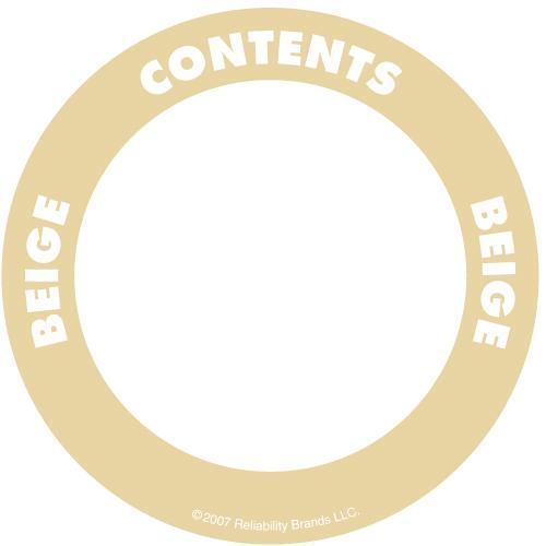 "OilSafe Beige ID Label, Outdoor Paper, 2"" Circle - 280500 - RelaWorks"
