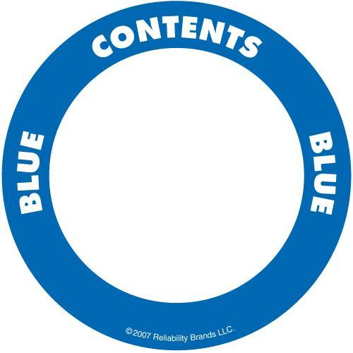 "OilSafe Blue ID Label, Adhesive Paper, 2"" Circle - 282202 - RelaWorks"
