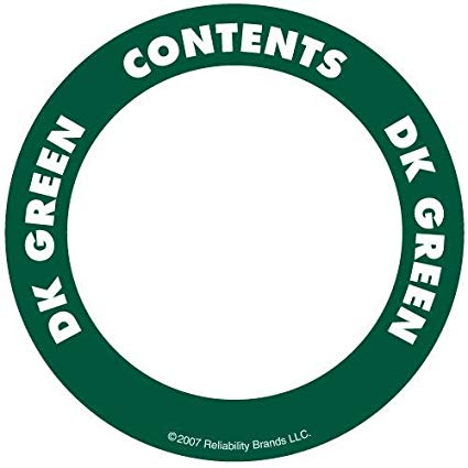 "OilSafe Dark Green ID Label, Adhesive Paper, 2"" Circle - 282203 - RelaWorks"