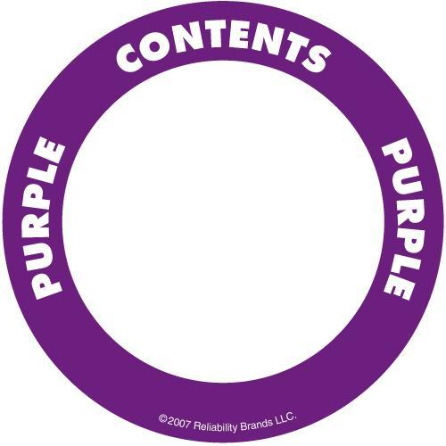 "OilSafe Purple ID Label, Adhesive Paper, 2"" Circle - 282207 - RelaWorks"