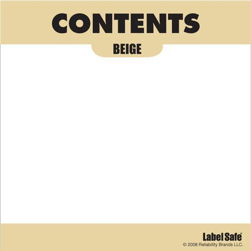 "OilSafe Beige ID Label, Adhesive Paper, 3.25"" x 3.25"" - 282300 - RelaWorks"