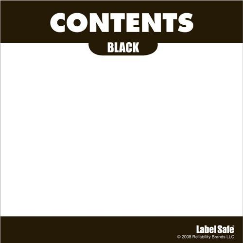"OilSafe Black ID Label, Adhesive Paper, 3.25"" x 3.25"" - 282301 - RelaWorks"