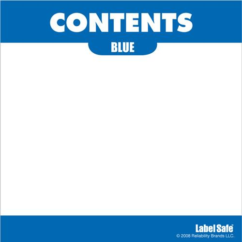 "OilSafe Blue ID Label, Adhesive Paper, 3.25"" x 3.25"" - 282302 - RelaWorks"