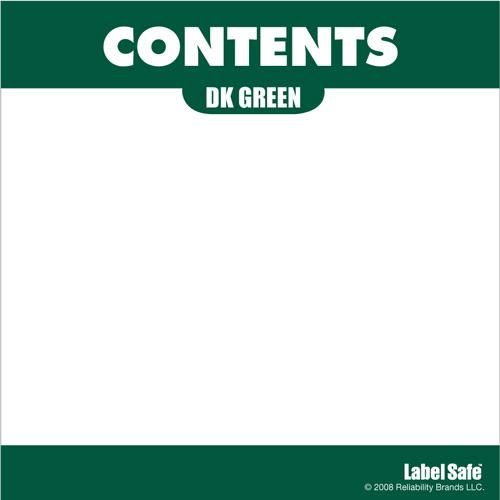 "OilSafe Dark Green ID Label, Adhesive Paper, 3.25"" x 3.25"" - 282303 - RelaWorks"