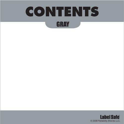 "OilSafe Gray ID Label, Adhesive Paper, 3.25"" x 3.25"" - 282304 - RelaWorks"
