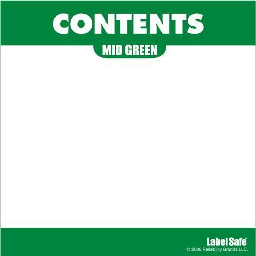 "OilSafe Mid Green ID Label, Adhesive Paper, 3.25"" x 3.25"" - 282305 - RelaWorks"