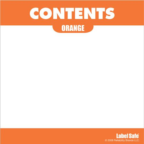 "OilSafe Orange ID Label, Adhesive Paper, 3.25"" x 3.25"" - 282306 - RelaWorks"
