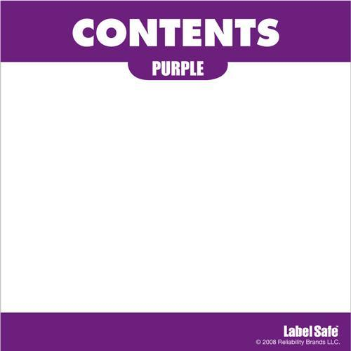 "OilSafe Purple ID Label, Adhesive Paper, 3.25"" x 3.25"" - 282307 - RelaWorks"