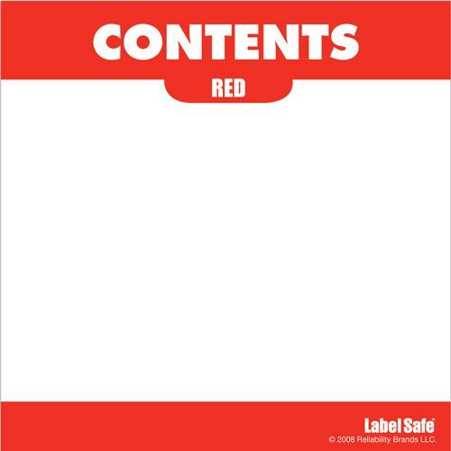 "OilSafe Red ID Label, Adhesive Paper, 3.25"" x 3.25"" - 282308 - RelaWorks"