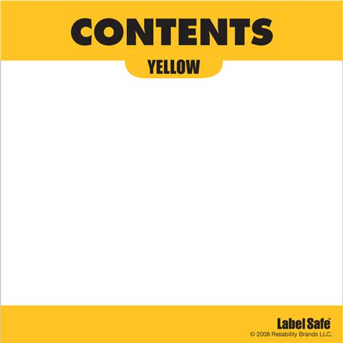 "OilSafe Yellow ID Label, Adhesive Paper, 3.25"" x 3.25"" - 282309 - RelaWorks"