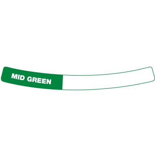 OilSafe Mid Green Drum Container ID Ring Label, Adhesive Paper 282405 - RelaWorks
