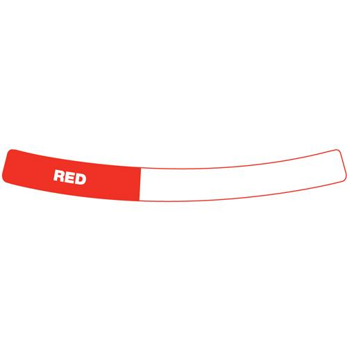 OilSafe Red Drum Container ID Ring Label, Adhesive Paper 282408 - RelaWorks