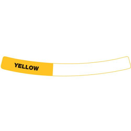 OilSafe Yellow Drum Container ID Ring Label, Adhesive Paper 282409 - RelaWorks