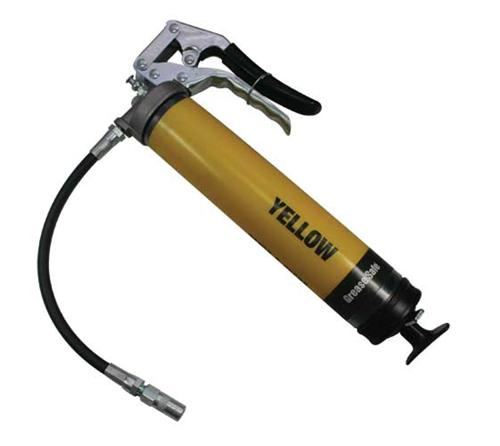 OilSafe Yellow Pistol Grip Grease Gun - 330709 - RelaWorks
