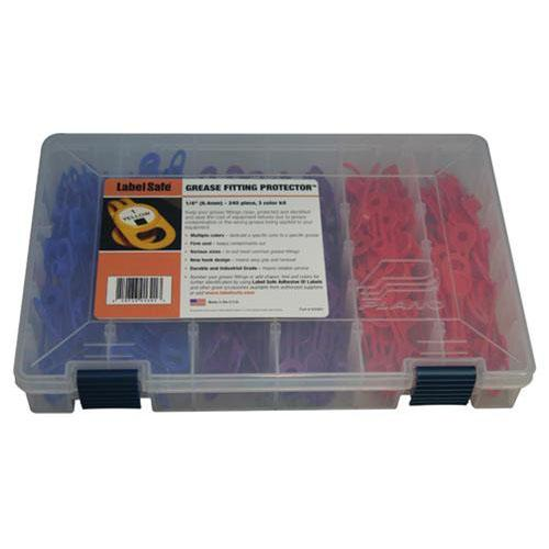 "OilSafe Grease Fitting Protector Kit 17/32"" 3 Color - 900903 - RelaWorks"