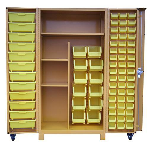 OilSafe Storage Cabinet Large 24 Small Bins & 12 Medium Bins - 930010