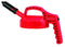 OilSafe Beige Mini Spout Lid  - 100408, Red - RelaWorks