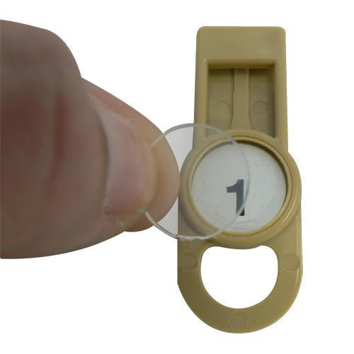 OilSafe Beige Fill Point ID Washer Tab - 205500 - RelaWorks