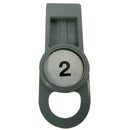 OilSafe Gray Fill Point ID Washer Tab - 205504 - RelaWorks