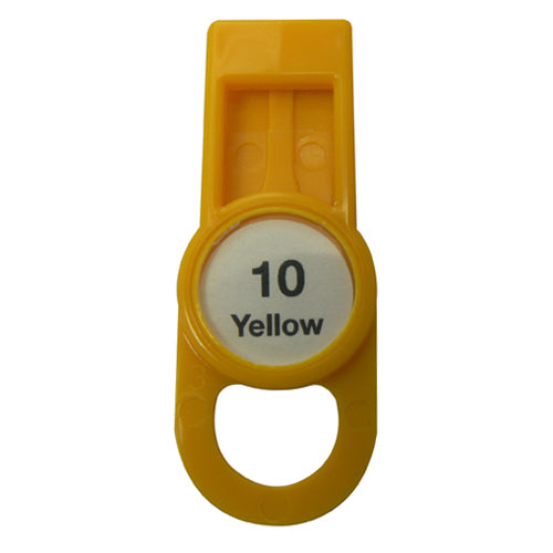 OilSafe Yellow Fill Point ID Washer Tab - 205509 - RelaWorks