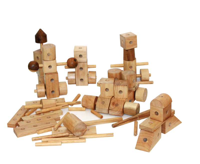 Natural. Wood Construction Set