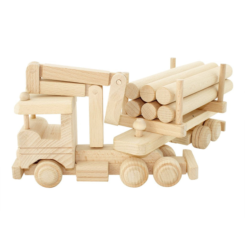 Montana - Wooden truck with logs & crane - Pre order