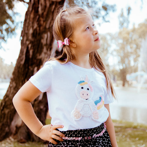 Unicorn Crochet tee