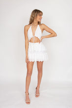 Load image into Gallery viewer, Issy Pearl Dress in White Eyelet