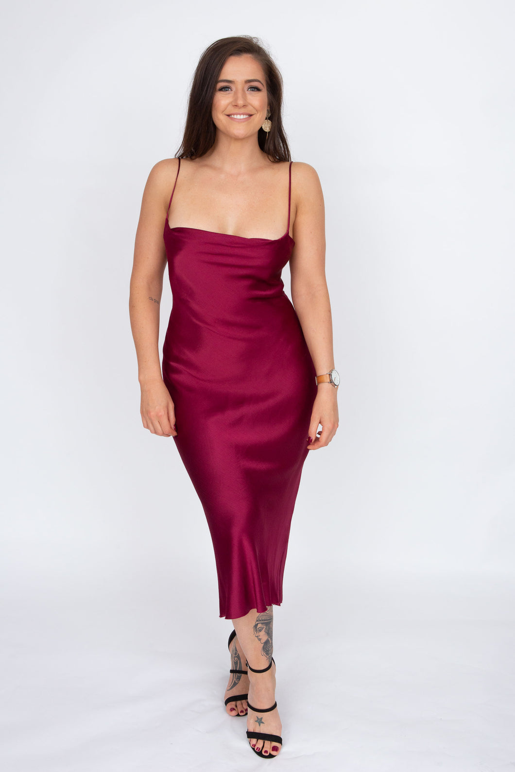 Bec & Bridge Kaia Cowl Dress (Plum)
