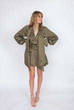 Load image into Gallery viewer, Acler Doheny Dress- Khaki Pebble