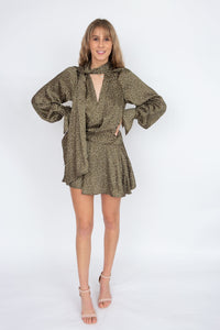 Acler Doheny Dress- Khaki Pebble