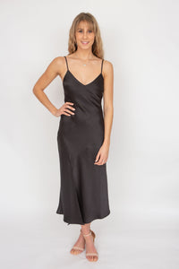 Bec & Bridge Gabrielle V Dress- Black