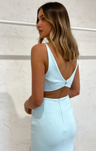 Load image into Gallery viewer, Bec & Bridge Scout Midi Cut Out Dress Cool Mint