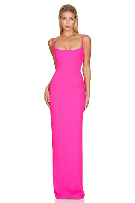 Nookie Bailey Gown- Neon Pink