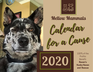 Mellow Mammals - 2020 Calendar for a Cause - 100% Profit Donated
