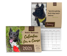 "Load image into Gallery viewer, 8.5""x11"" Calendar for a Cause - 2021 Dog edition - 100% of the profits are donated!"